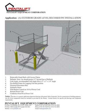 Dock Lift Pit Installation Configurations