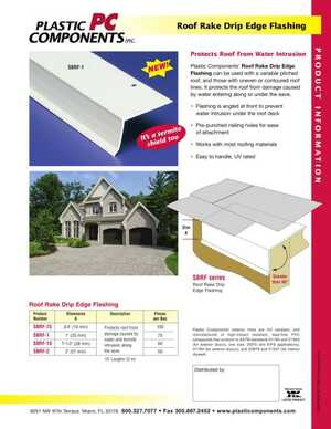 Roof Rake Drip Edge Flashing