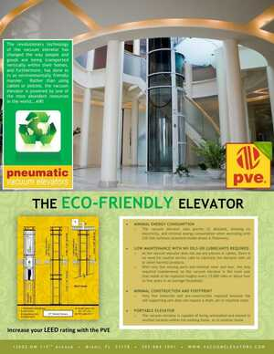 The Eco-Friendly Elevator Brochure