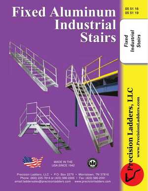 <!-- 014 -->Fixed Aluminum Industrial Stairs