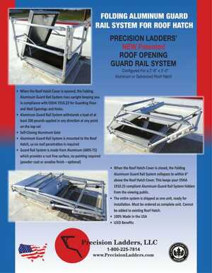 Folding Aluminum Guard Rail System for Roof Hatch