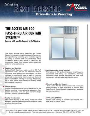The Access Air 100 Pass-Thru Air Curtain System