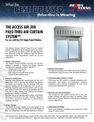 The Access Air 300 Pass-Thru Air Curtain System