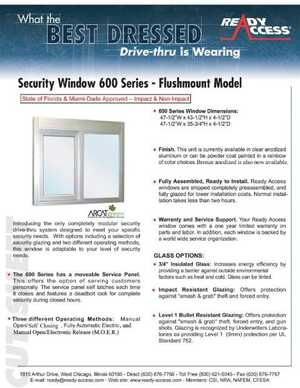 Security Window 600 Series - Flushmount Model