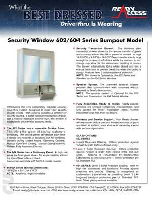 Security Window 602/604 Series Bump Out Model