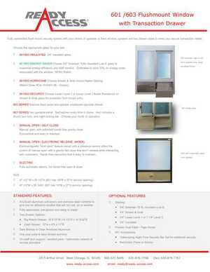 601 / 603 Flushmount Window with Transaction Drawer