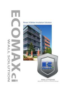 <!-- 012 -->ECOMAXci - A Better Insulation Solution