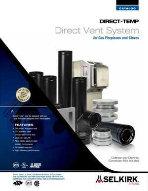 Direct-Temp Direct Vent System for Gas Fireplaces and Stoves