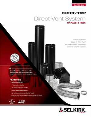 Direct-Temp Direct Vent Systems for Pellet Stoves