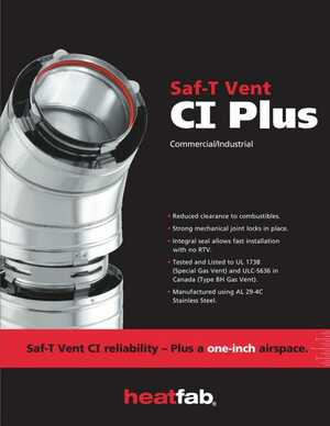 Heatfab - Saf-T Vent CI Plus