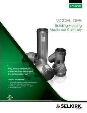 Model DFS Building Heating Appliance Chimney