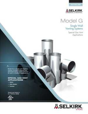 Model G Single Wall Venting Systems