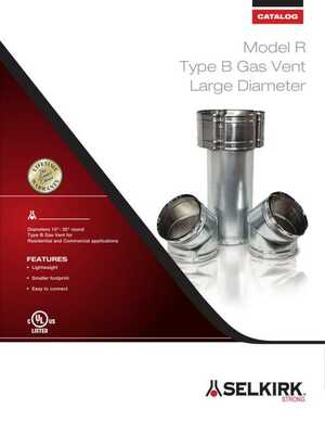 Model R Type B Gas Vent Large Diameter