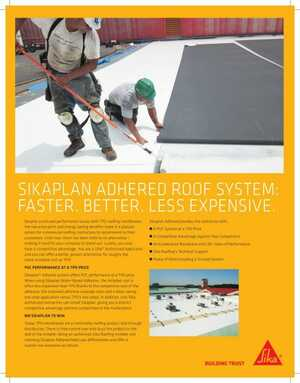 Sikaplan Adhered Roof System
