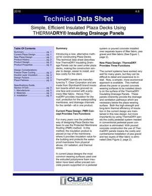 Technical Data Sheet - Insulated Plaza Decks using ThermaDRY