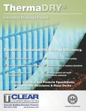 ThermaDRY Insulating Drainage Panels