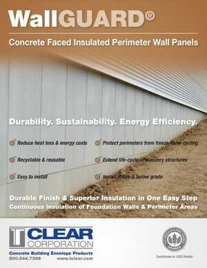 WallGUARD Concrete Faced Insulated Perimeter Wall Panels