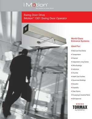 <!-- 016 -->Swing Door Drive iMotion® 1301 Swing Door Operator