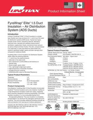 <!-- 012 -->FyreWrap® Elite® 1.5 Duct Insulation – Air Distribution System (ADS Ducts)
