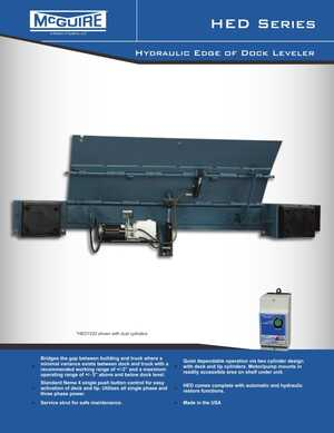 <!-- 026 -->HED Series - Hydraulic Edge-of-Dock Leveler