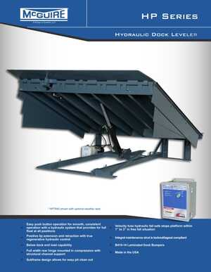 <!-- 016 -->HP Series - Hydraulic Dock Leveler