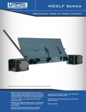 <!-- 026 -->MEDLF - Mechanical Edge-of-Dock Leveler
