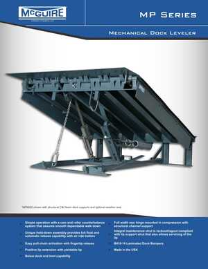 <!-- 020 -->MP Series - Mechanical Dock Leveler