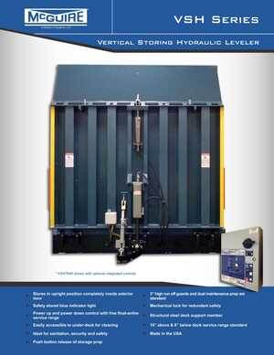 <!-- 018 -->VSH Series - Vertical Storing Hydraulic Dock