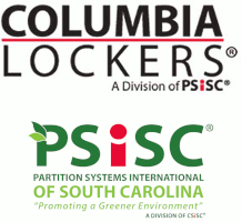 Columbia Lockers® A Division of  Partition Systems International of South Carolina® Plastic Toilet Compartments
