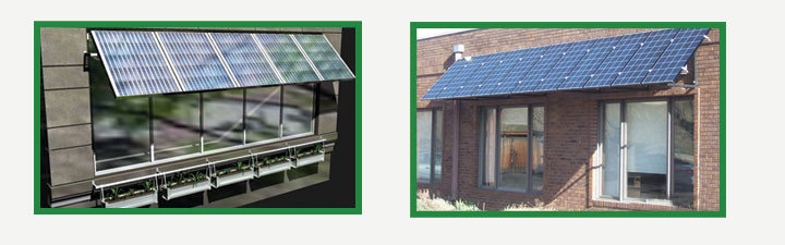 Solar Panel Awnings - Green Awning - Solar Powered