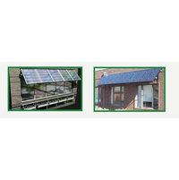 Solar Panel Awnings - Green Awning - Solar Powered image