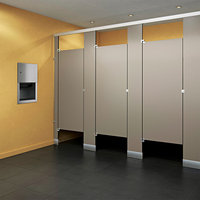 Black-Core Phenolic Toilet Partitions image