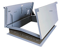Equipment Access Roof Hatch Double Leaf, Galvanized (RHG)