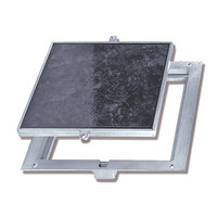 "Non Hinged: Floor Doors - Panel Recessed 1/8"" for Vinyl Tile/Carpet  image"