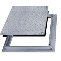Non Hinged: Flush Diamond Plate Floor Doors image