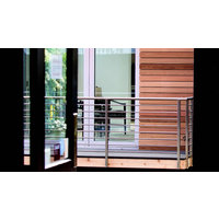 AGS Stainless, Inc. - Cable Rail image | Horizontal Bar Round Top Railing