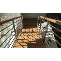 Horizontal Bar Wood Top Railing image