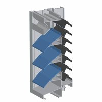 """6"""" Deep Drainable Combination Stationary Wind Driven Rain Resistant Storm Louver image"""