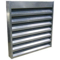 """12"""" Deep Aluminum Acoustical Louver with 6"""" On Center Blade Spacing image"""