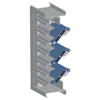 """7"""" Deep Insulated Blade Combination Adjustable and Stationary Acoustical Steel Louver image"""