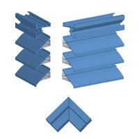 """4""""/6"""" Deep Extruded Aluminum Non-Drainable Blade Penthouse with Welded Miter Corners image"""