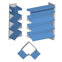 """4""""/6"""" Deep Extruded Aluminum Straight Blade Penthouse with Post Corners image"""