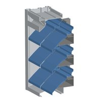"""6"""" Deep Continuous Line Extruded Aluminum Drainable Blade Louver with Recessed Mullions image"""