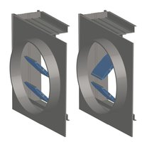 Air Balance image | Rectangular Pin Lock Multi-Blade Airfoil Aluminum Control Damper with Transitions