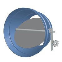 Air Balance image | Round Single Blade Galvanized Steel Damper with Honeywell Actuator
