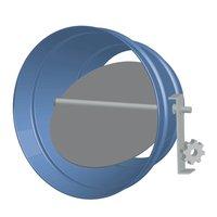 Round Single Blade Galvanized Steel Damper for Remote Location image