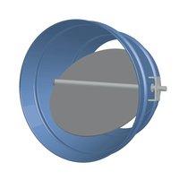Round Single Blade Galvanized Steel Damper with Nine Position Locking Hand Quadrant image