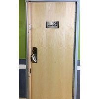 Security Wood Door and Steel Frame image