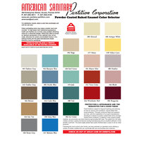 American Sanitary Partition Corp. image | Powder Coated Baked Enamel Color Selector