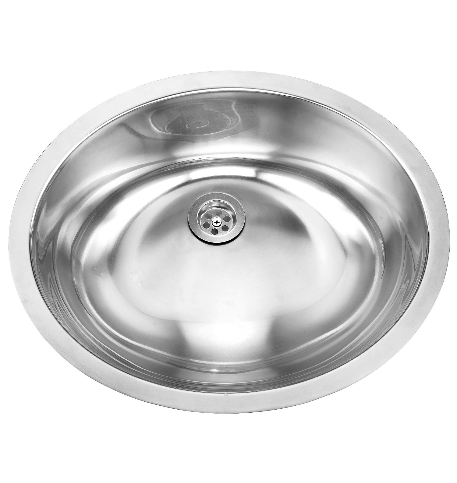 Single Bowl Undermount Deluxe Stainless Steel Bathroom Sink